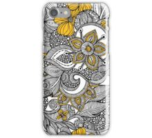 Doodle yellow and black iPhone Case/Skin