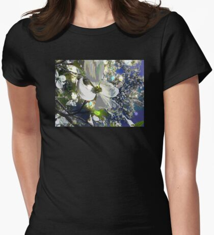 Dogwood Dazzle Womens Fitted T-Shirt