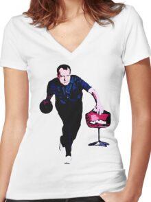 The Big Milhouski Women's Fitted V-Neck T-Shirt