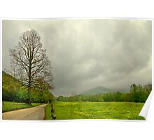 Storm Brewing in Springtime Poster
