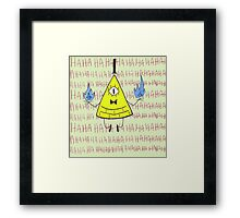 Bill The Cipher Hahahahahahahahah Framed Print
