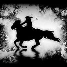 """""""Off to the Races"""" Galloping Horse and Rider by NaturePrints"""