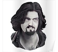 Athos - Captain of the Musketeers! In Black and White Poster