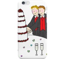 Two grooms. iPhone Case/Skin