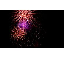July 4th Fire works Photographic Print
