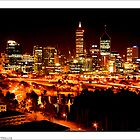 Perth City at Night - Postcard by cmrphotography