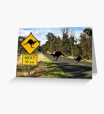 Kangaroos Ahead Greeting Card