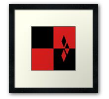 Red and Black Diamonds Framed Print