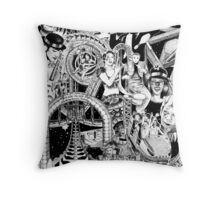 'Carnival of Life' Throw Pillow
