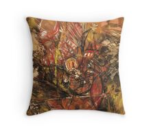 Miguel Hine - Left Handed Drawing #6.  Throw Pillow