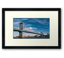 Manhattan Bridge Framed Print