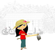 TropoGirl - Chinese country girl - Living in the country by Kartoon