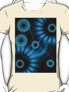 Blue Galactic Flowers T-Shirt