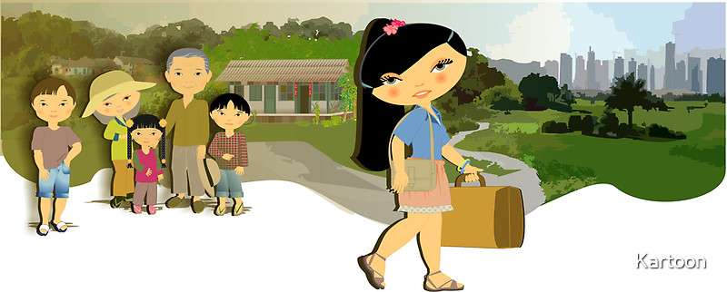 TropoGirl - Chinese country girl - Leaving home by Kartoon