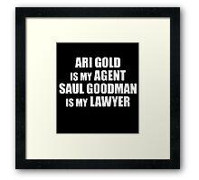 Ari and Saul Framed Print