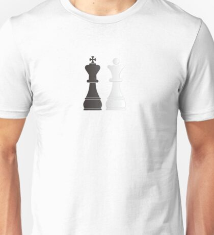 Black king white queen chess pieces Unisex T-Shirt