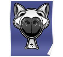 English Bull Terrier Hello Poster