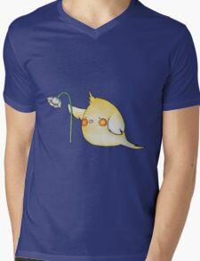 Cheeky the Cockatiel Mens V-Neck T-Shirt