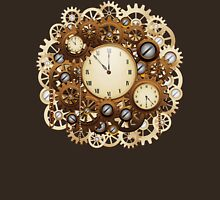 Steampunk Vintage Style Clocks and Gears Womens Fitted T-Shirt