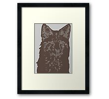 Fox Woodcut Framed Print