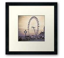 Moody London Eye Framed Print