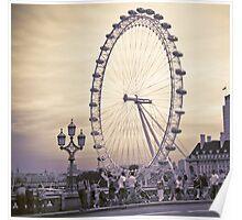 Moody London Eye Poster