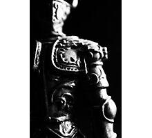 Knight Statuette Macro II Photographic Print