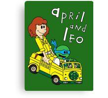 April and Leo Canvas Print