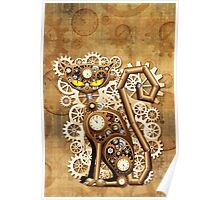 Steampunk Cat Vintage Style Poster