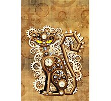 Steampunk Cat Vintage Style Photographic Print