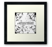 Belle's Wish - Beauty and the Beast Framed Print