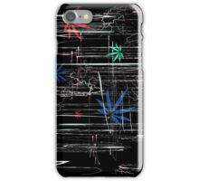 Colorful Marijuana Leaves and Scratches iPhone Case/Skin
