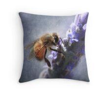 Lavander bee Throw Pillow