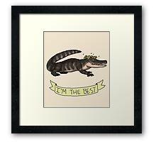 Best Gator Framed Print