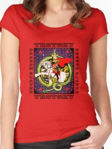 Trotsky Dragon Slayer  Women's Fitted Scoop T-Shirt