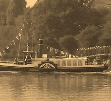 The old paddle steamer, or is it? by Tanya Newman