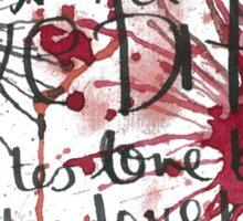 LOVE BITES  Sticker
