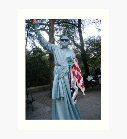 Lady? Liberty Art Print