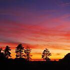 Sunset over Stone, Staffordshire, U.K. 12th Oct 09. by Phil Mitchell