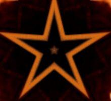 Flaming Star...Kaleidoscope Tshirt Sticker