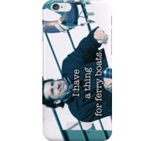 Derek Shepherd Ferry boats iPhone Case/Skin