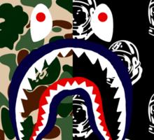Bape Camo, Billionaire & Shark Sticker