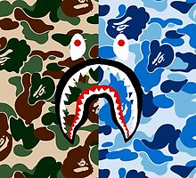 Bape Camo & Shark by bradjordan412