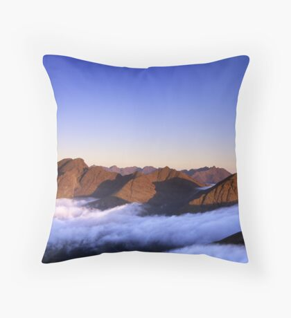 The Cuillin, morning Throw Pillow