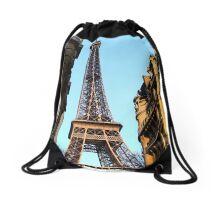 Eiffel Tower Paris France Drawstring Bag