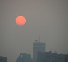 Sunset in Beijing, China by elphonline