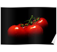 Portrait of tomatoes  Poster