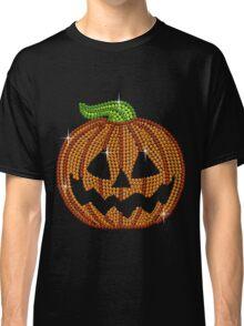 Pumpkin Printed Rhinestone Jackolantern Tshirt Classic T-Shirt