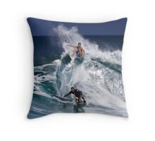 North Shore Surfers 2 Throw Pillow