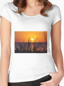 Mississippi Gulf Coast Sunset Women's Fitted Scoop T-Shirt